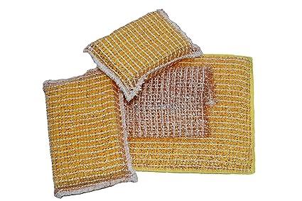 Set de limpieza cobre 4 piezas), 2 veces Cobre Esponja, 1 veces microfibra