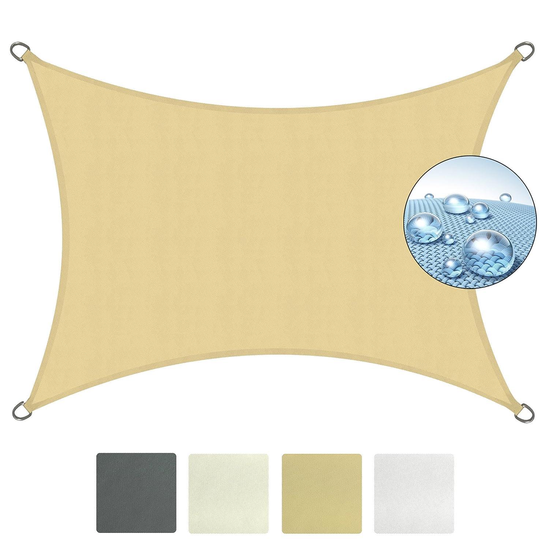 Sol Royal Tenda a vela impermeabile 300x200 cm SolVision PS9 - protezione anti raggi UV - sabbia - rettangolare