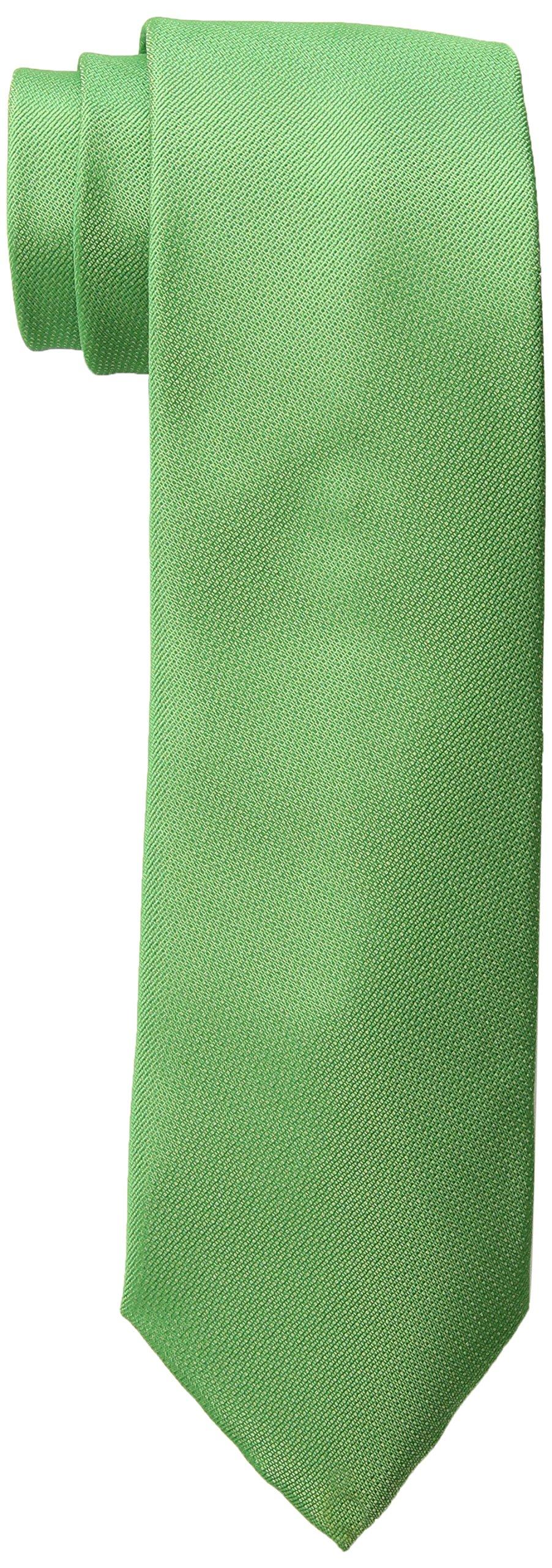 Haggar Men's Big-Tall Solid Extra Long Tie, Green, XL