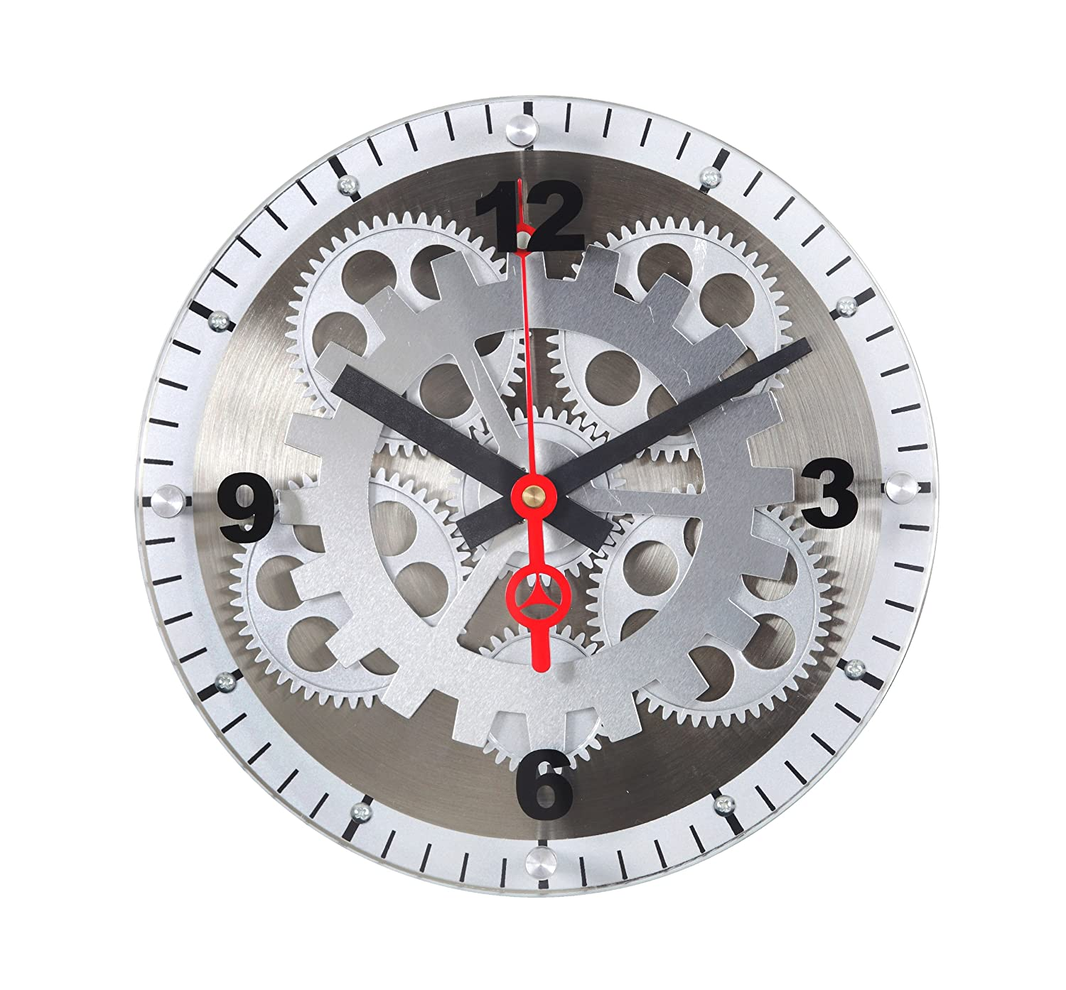 Amazon Maples 10 Inch Moving Gear Wall Clock Glass Cover