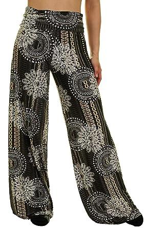 Amazon.com: Uptown Apparel - Pantalones para mujer plegables ...