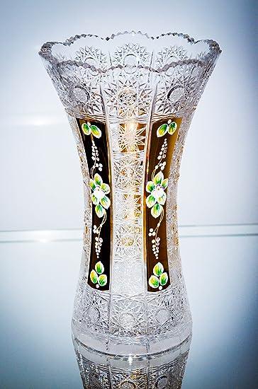 Amazon Bohemian Crystal Glass Vase H 12 Hand Cut Hand