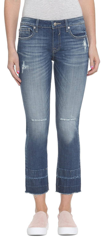 3fa063a6d7a Amazon.com  VIGOSS Women s Crop Slim Straight Jagger Jean  Clothing