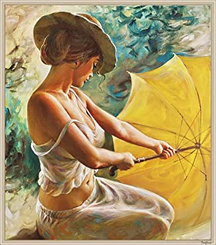 Fuumuui Paint By Numbers For Adults And Kids Diy Oil Painting Gift Kits Pre Printed Canvas Art Home Decoration Beauty 16 20 Inch