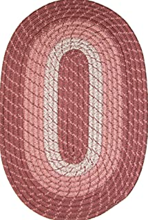 product image for Constitution Rugs Plymouth 5' x 8' Braided Rug in Light Rose