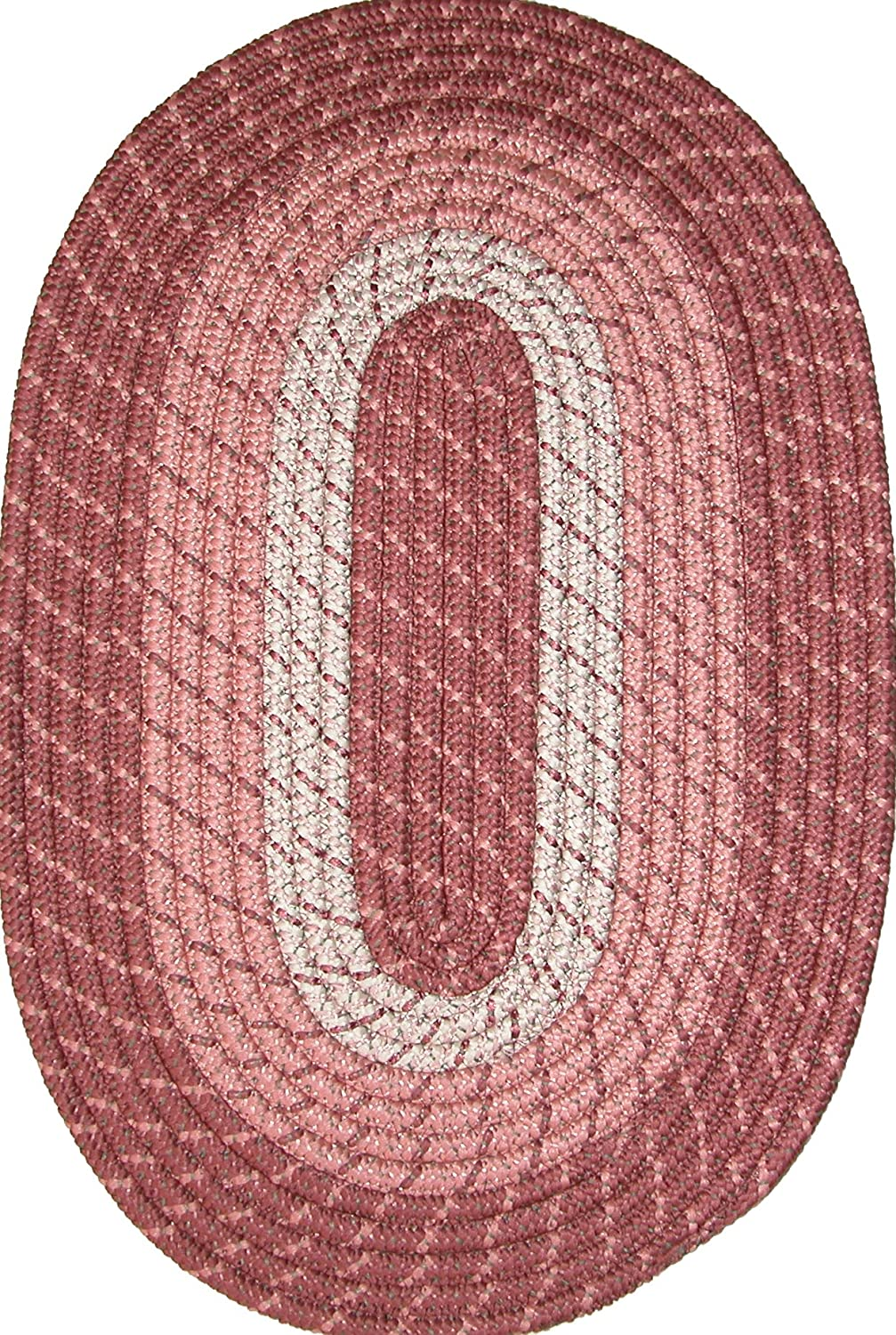 Plymouth 24 x 60 (Runner) Braided Rug in Light Rose Constitution Rugs