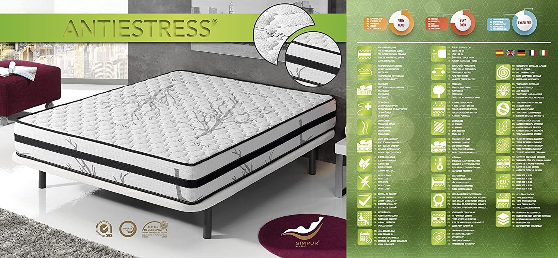 Living Sofa COLCHÓN VISCOELASTICO GRAFENO Terapia Carbon Anti Stress 120 x 190 (Todas Las Medidas): Amazon.es: Hogar