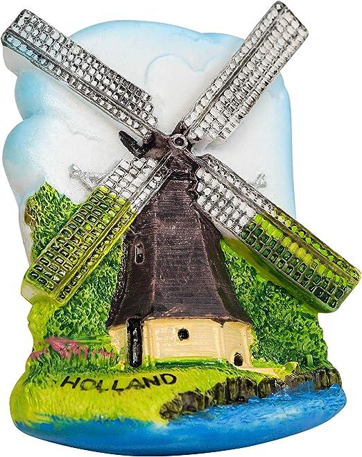 Amoureux Moulin /à Vent Pays-Bas zamonji 3D R/ésine R/éfrig/érateur Aimants De Cuisine Home Decor Tourist Souvenir de Voyage