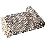 Ehc in cotone morbido, reversibile, Sofa Throws-Coperta per letto matrimoniale, 150 x 200 cm, colore: marrone