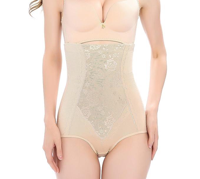 3eae4df6a Vlazom Body Shaper High Waisted Tummy Control Butt Lifter Pattern Shapewear  Cotton Slimming Briefs Waist Cincher