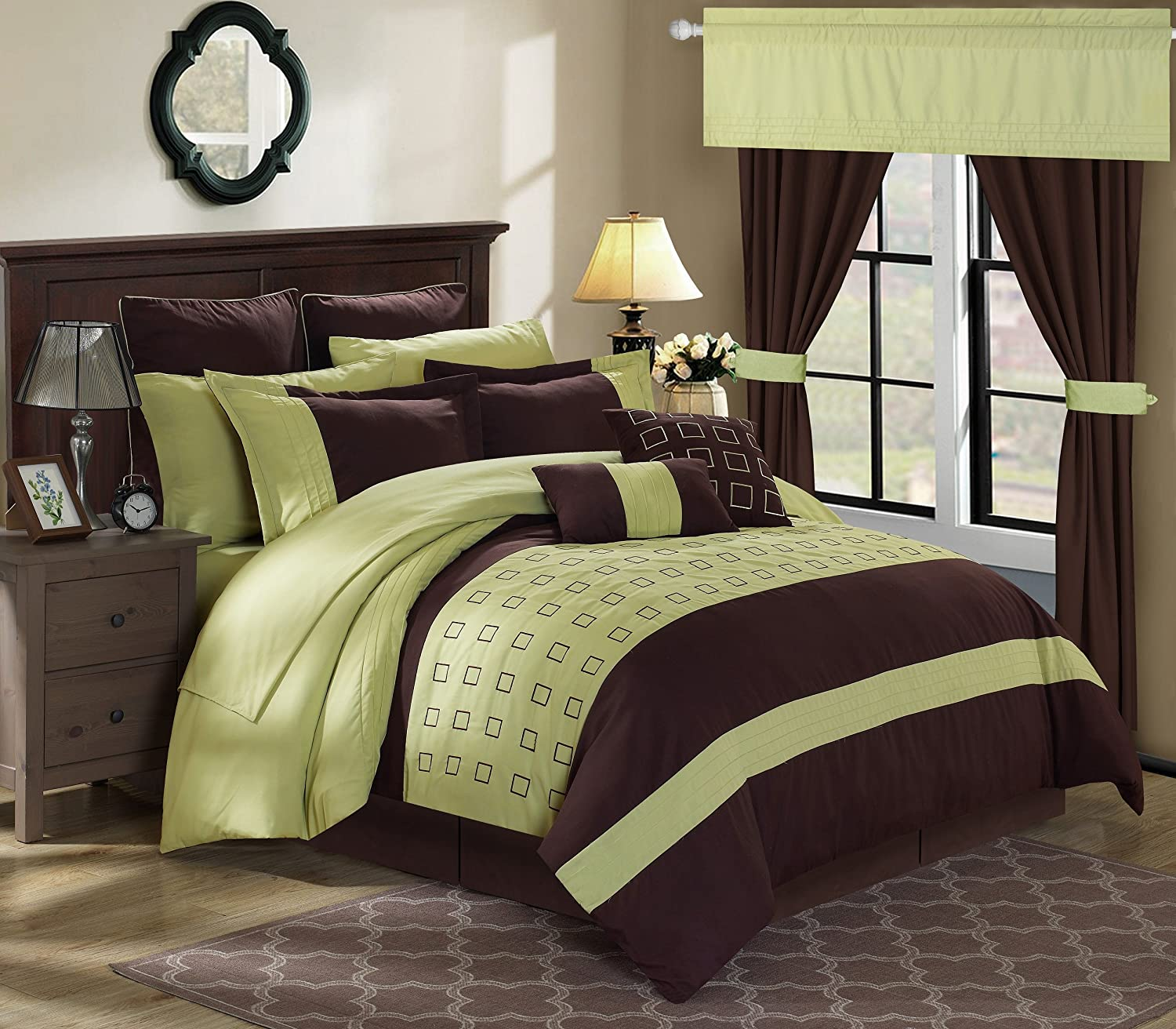 Chic Home 24 Piece Lorde Complete Embroidery Comforter Set