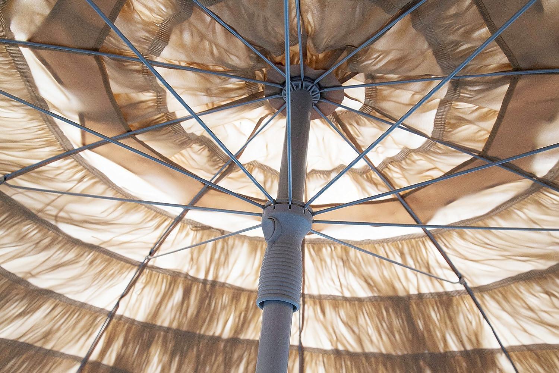 Heininger 1272 DestinationGear Palapa Tiki Whiskey 7 6 Patio Pole Umbrella