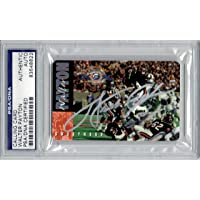 $104 » Walter Payton Autographed 1995 Calling Card PSA/DNA Chicago Bears Super Bowl 10th Anniversary