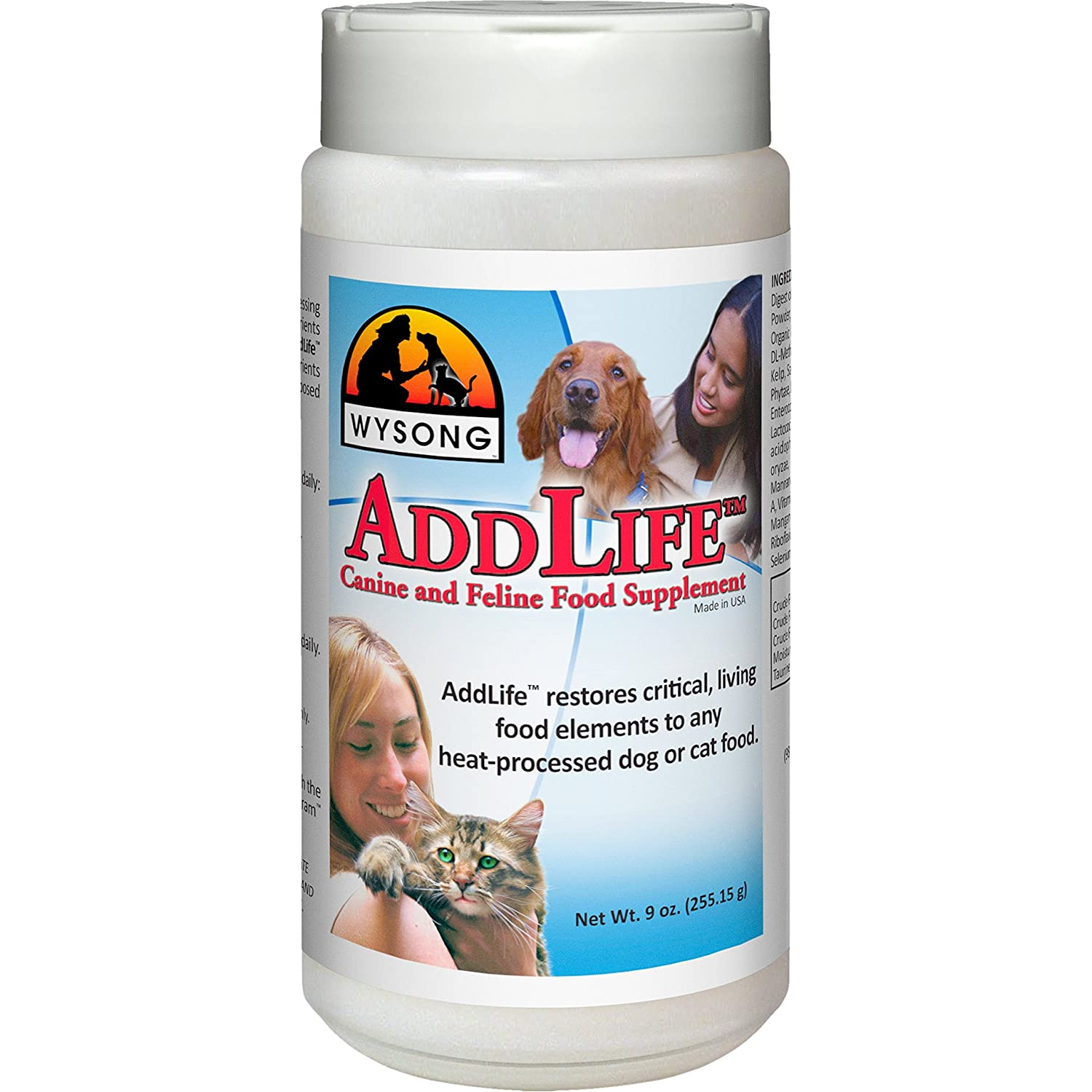9-oz canister Wysong Addlife Canine Feline Food Supplement For Dog Cat 9 Ounce Bottle
