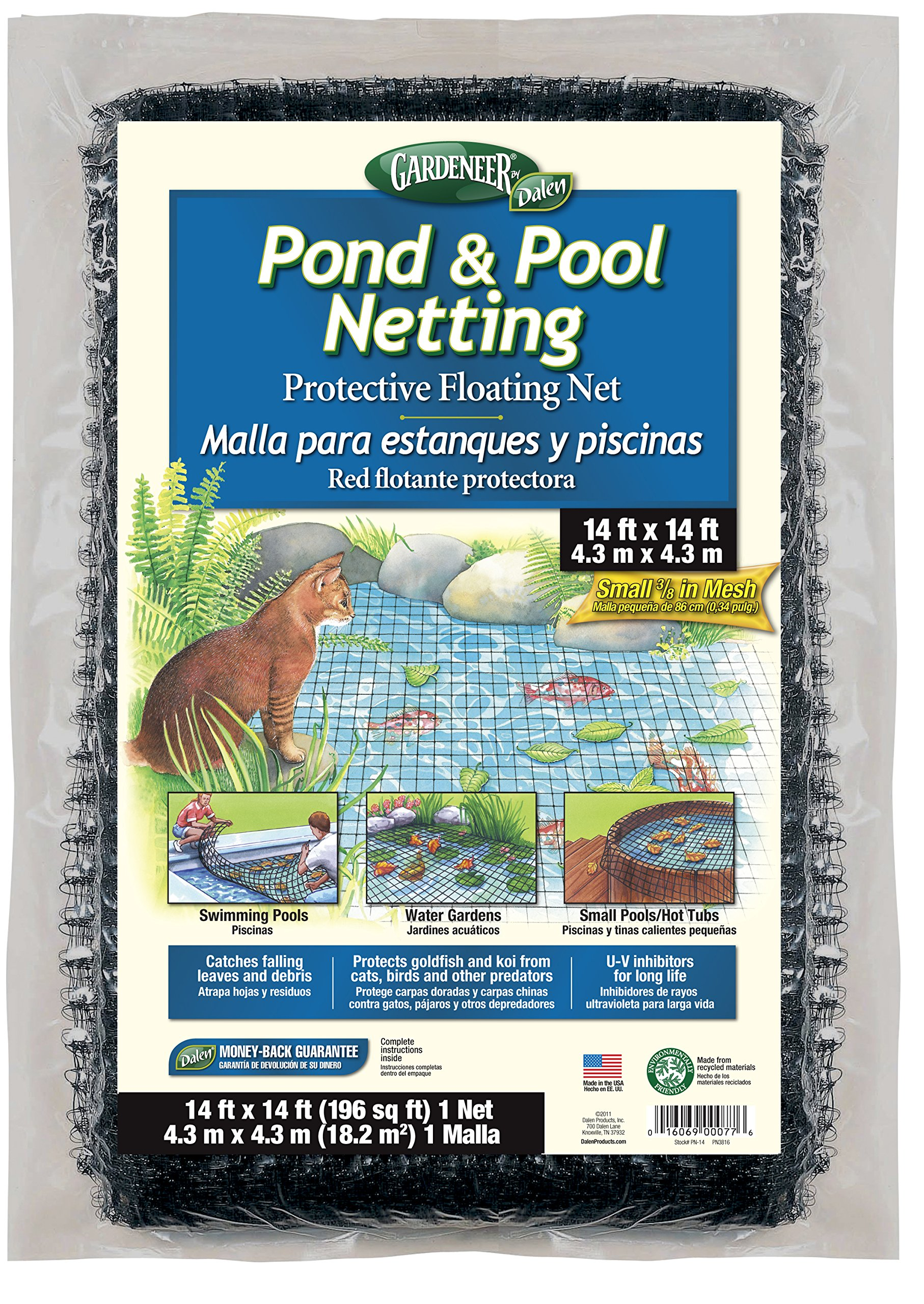 Dalen PN-14 Gardeneer By Pond & Pool Netting Protective Floating Net, 14' x 14'