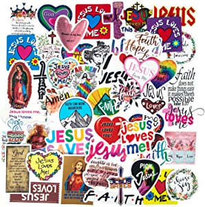 Jesus Christian Stickers for Hydroflasks, 77 PCS Bible Stickers Inspirational Motivational Religious Faith Cross Stickers for Teens, Skateboard Laptop Stickers Christian Gifts and Bible Accessories