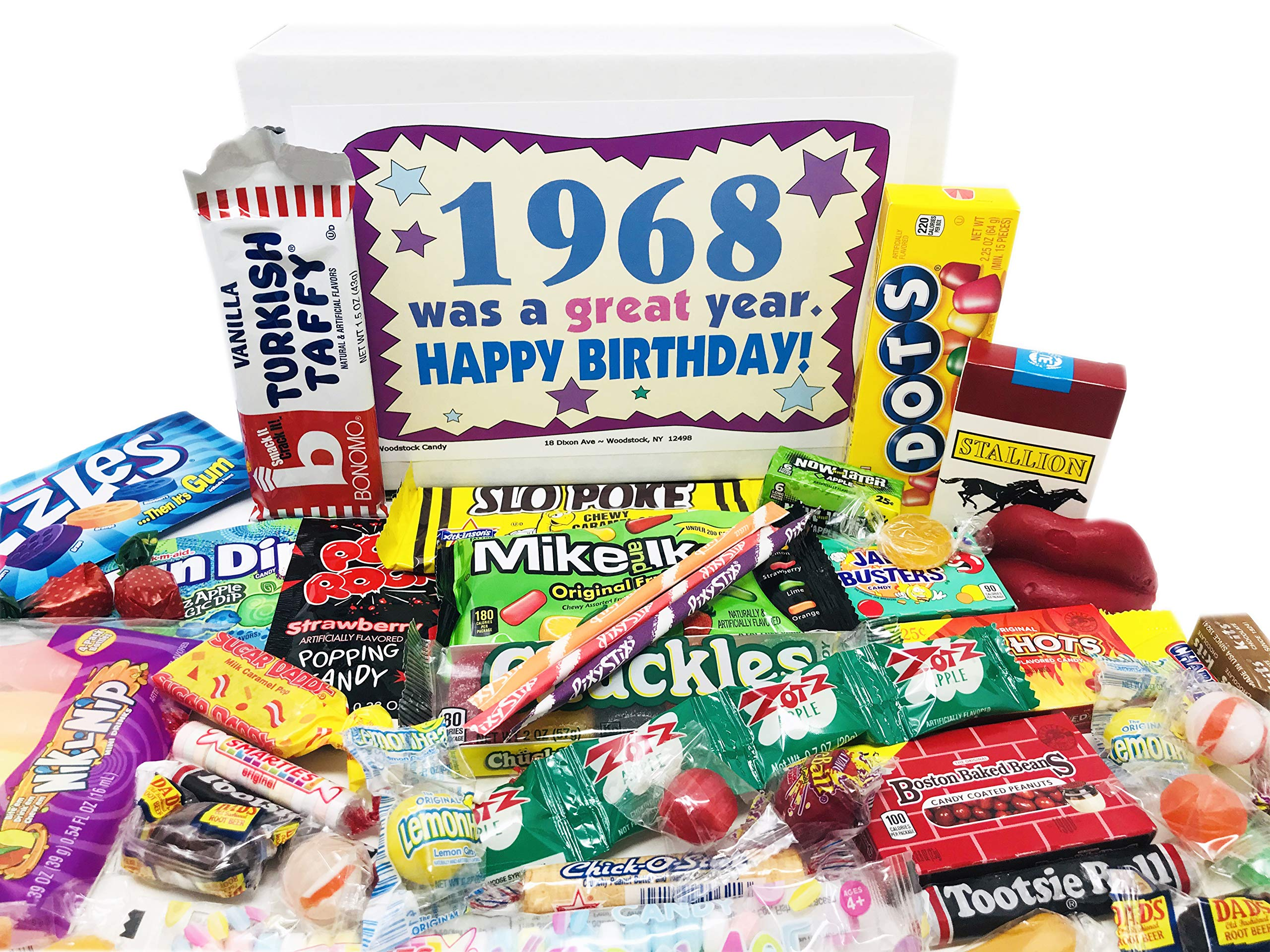 Woodstock Candy 1968 53rd Birthday Gift Box Nostalgic Retro Candy Mix From Childhood For 53 Year Old Man Or Woman Born 1968 Jr Buy Online In Cayman Islands At Cayman Desertcart Com Productid 25799089