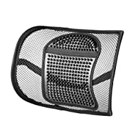 Back Support,Vekey Lumbar Support Back Cushion Seat Cushion Elastic Band Mesh Breathable Comfortable Adjustable for All Types Car Seat Office Chair (PP Fiber Mesh, New Package)