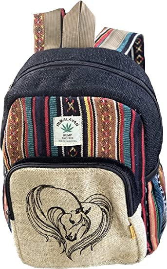 Trendy Turtle Backpack Himalayan Hemp Core Hemp Backpack Fair Trade Handmade in Nepal Beach Festival Hiking Bag Cute Boho Backpack Hippie