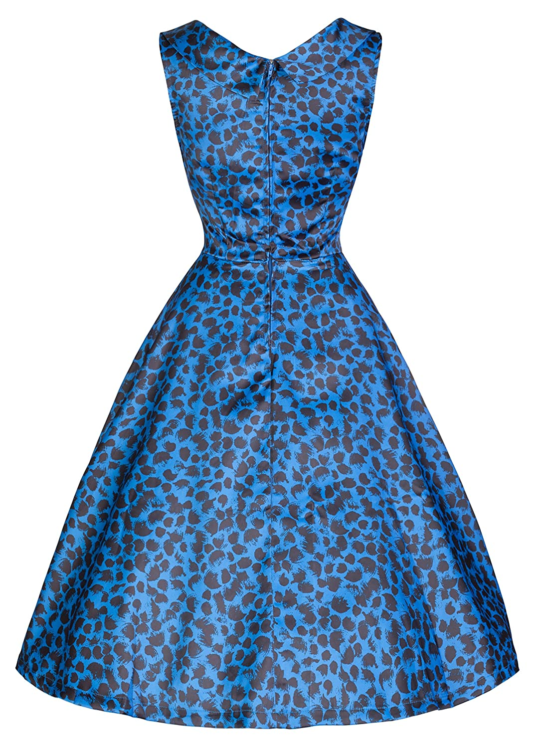 Amazon.com: Lindy Bop \'Ophelia\' Vintage 50\'s Electric Blue Print ...