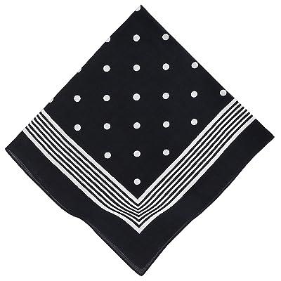 Bandana classique à points 55 x 55 cm dans les couleurs: rouge, bleu marine et noir/bleu color noir/bleu