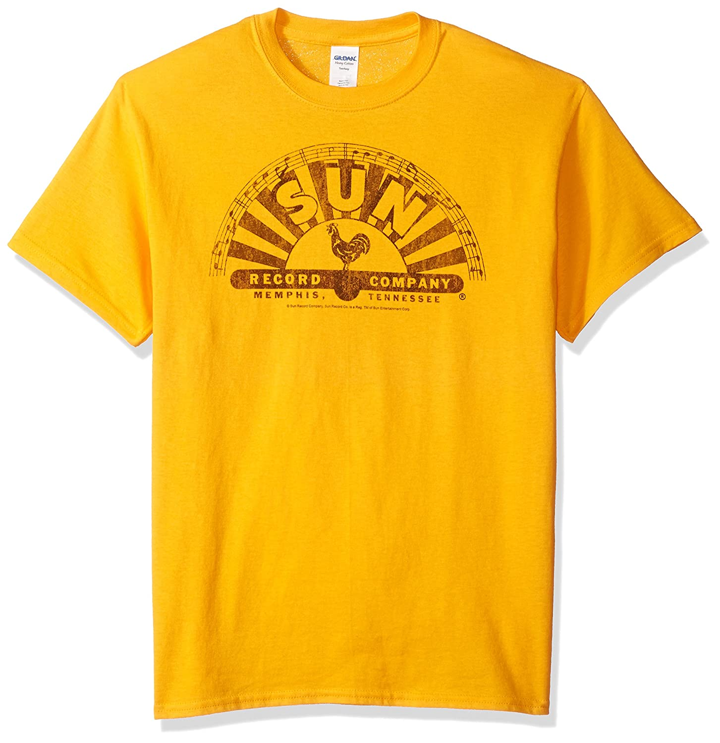 Sun Records Media Company Record Label Worn Logo Adult T-Shirt Tee