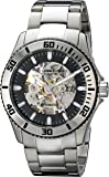 Stuhrling Original Legacy Regatta Antilles Men's Automatic Watch with Black Dial Analogue Display and Silver Stainless Steel Bracelet 773.01