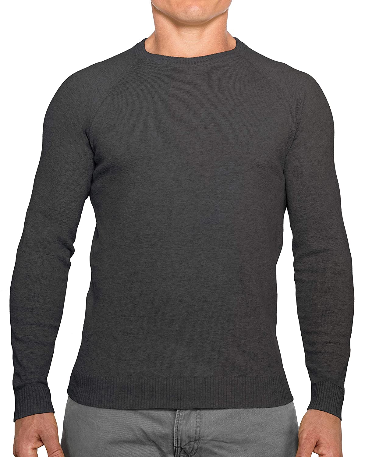 Lightweight Breathable Mens Sweater CC Perfect Slim Fit Crew Neck Sweaters for Men Soft Fitted Pullover for Men