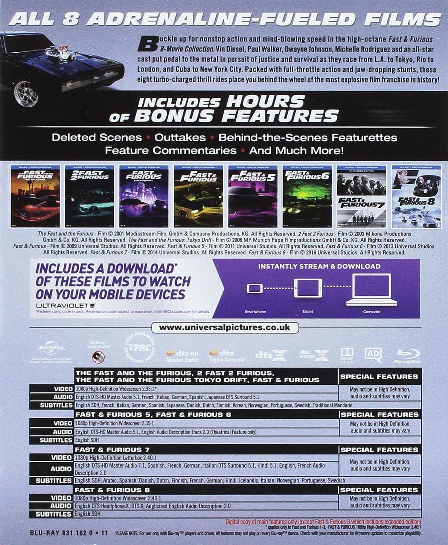Fast & Furious Season 1-8 Boxset Edizione: Regno Unito Reino Unido Blu-ray: Amazon.es: Cine y Series TV