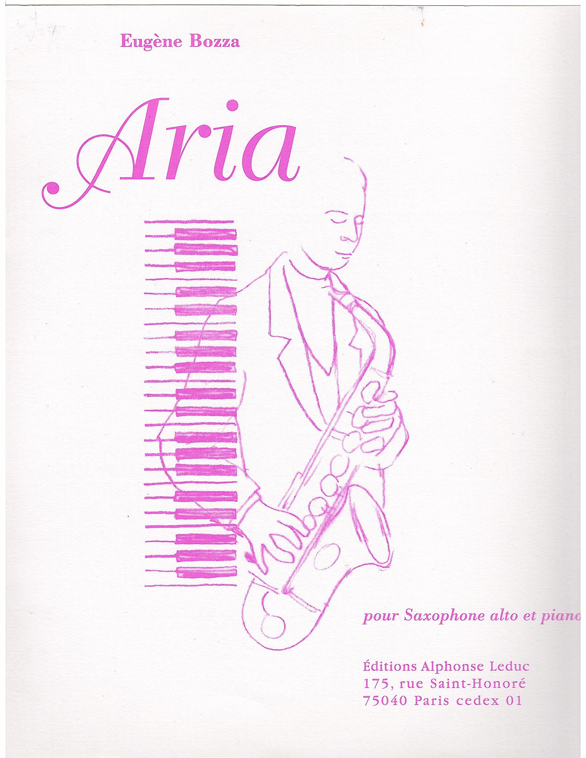 Amazon Com Aria For Alto Saxophone And Piano By Eugene Bozza 1936