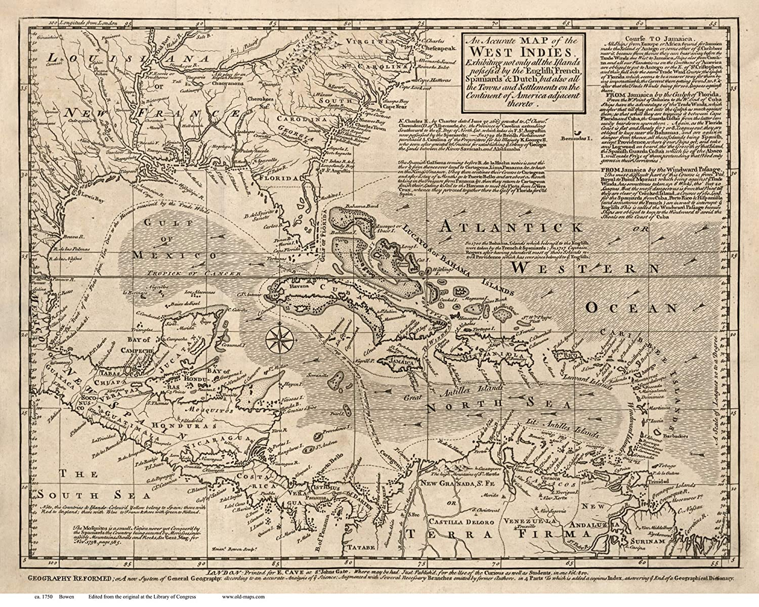 Amazon.com: Caribbean 1750 Map by Bowen - Reprint Cuba ... on map of ferry, map of crane, map of lindstrom, map of whitaker, map of axtell, map of mabelvale, map of bottineau, map of winsted, map of carter, map of morr, map of carr, map of matthews, map of hubbard, map of st anthony, map of waite park, map of crittenden county, map of null, map of bankhead, map of andrews, map of shore,
