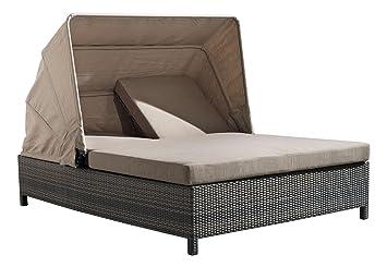 Amazoncom ZUO VIVE Siesta Key Double Chaise Lounge Espresso