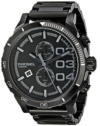 27870b507729 Amazon.com  Diesel Men s DZ4326 Double Down Series Analog Display Analog  Quartz Black Watch  Diesel  Watches