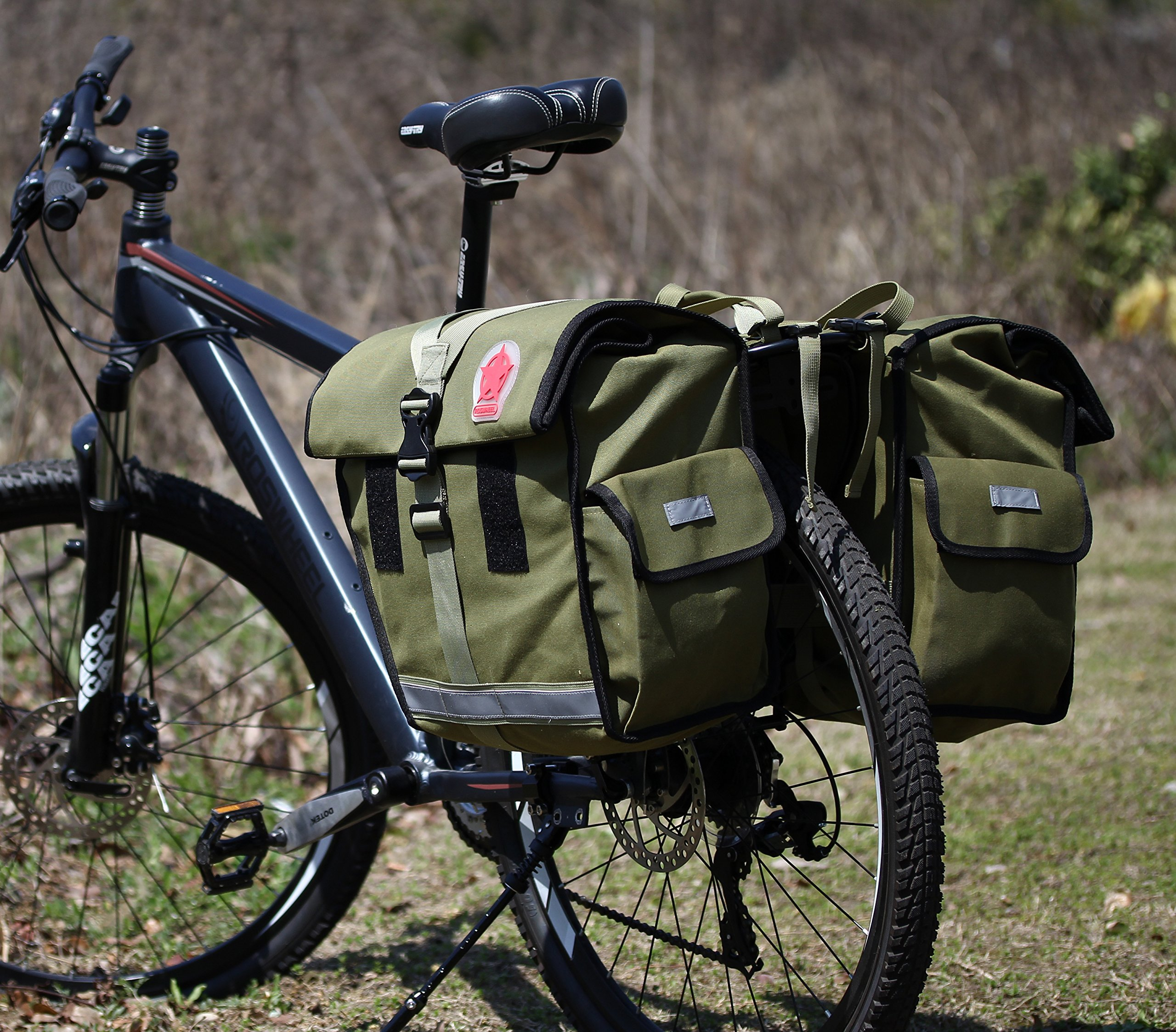 Roswheel 14686 Expedition Series Bike Rear Rack Bag Bicycle Double Panniers Cargo Trunk Bag by Roswheel (Image #9)