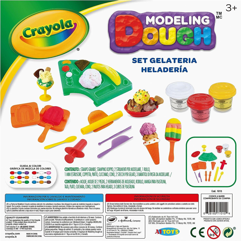 Crayola Modeling Dough Ice Cream Parlor Kit - 16 pieces