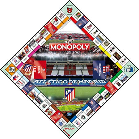 Winning Moves Monopoly Atletico Madrid (10230), Multicolor: Amazon ...
