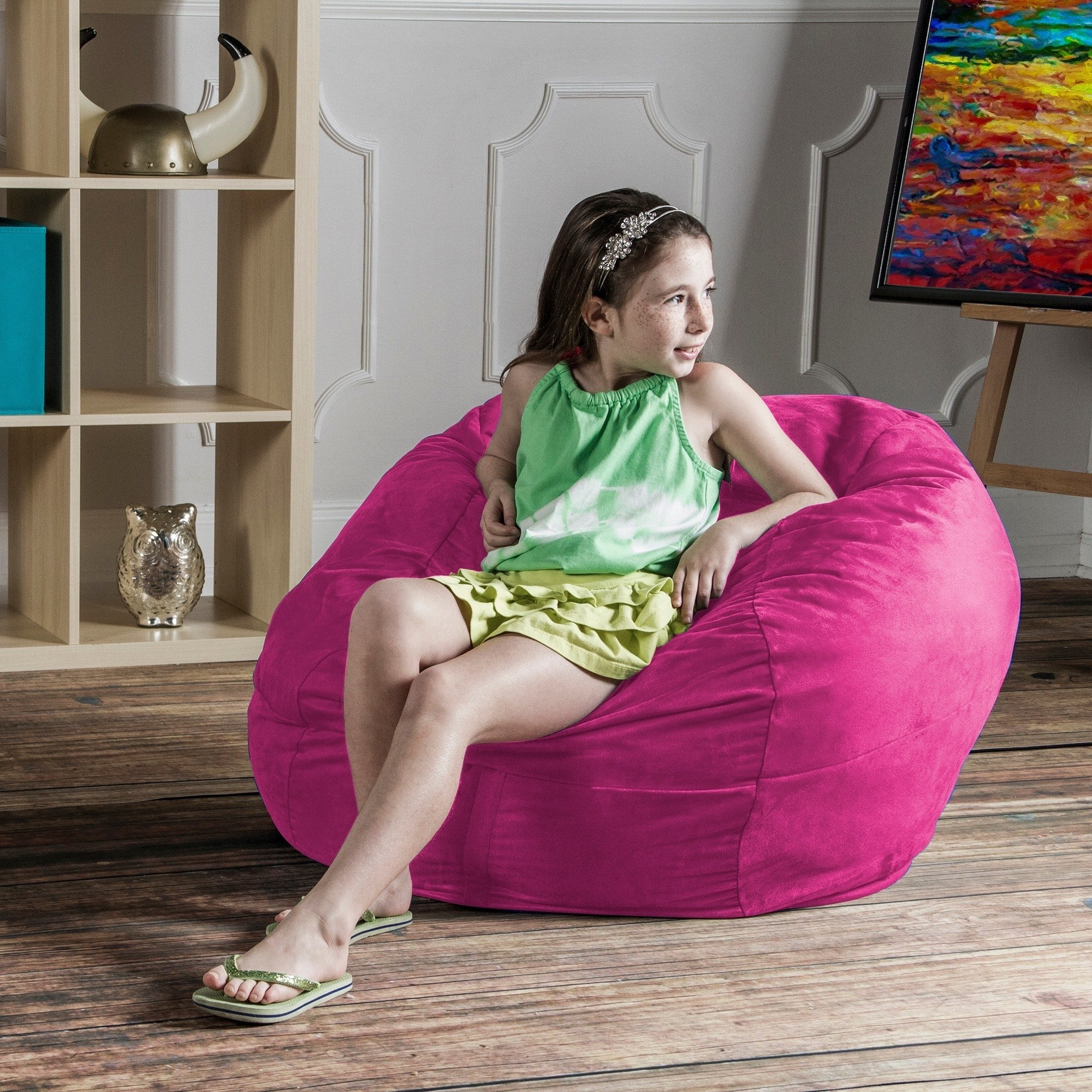 Jaxx Lounger Jr. (Microsuede Lime) (48''H x 24''W x 24''D) by Studio one Up (Image #3)