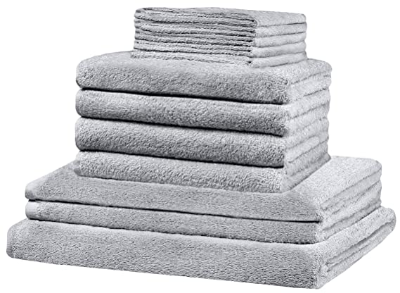 GREEN MARK Textilien ® 12 Piezas XXL Set de Toallas (: Todos los tamaños Cubre. - 5 x de Invitados, 4 x Toallas de Mano, 2 x Toallas de Ducha, ...