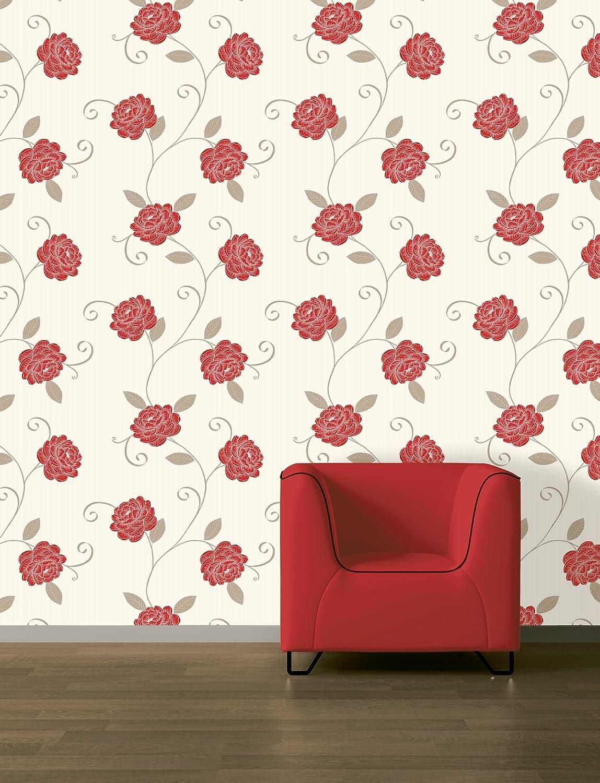 - Picasso Wallpaper Red/Beige: Amazon.co.uk: DIY & Tools