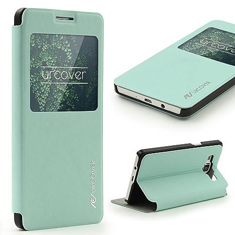 Urcover® Funda Galaxy A5 (2015) S-View, Carcasa Protectora ...