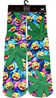 ODD SOX Men's Trippy Emojis Crew Socks