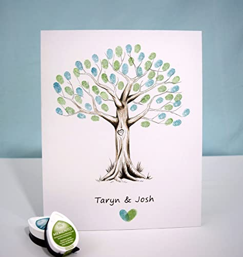 Amazon.com: Fingerprint Tree custom wedding guestbook - Original ...