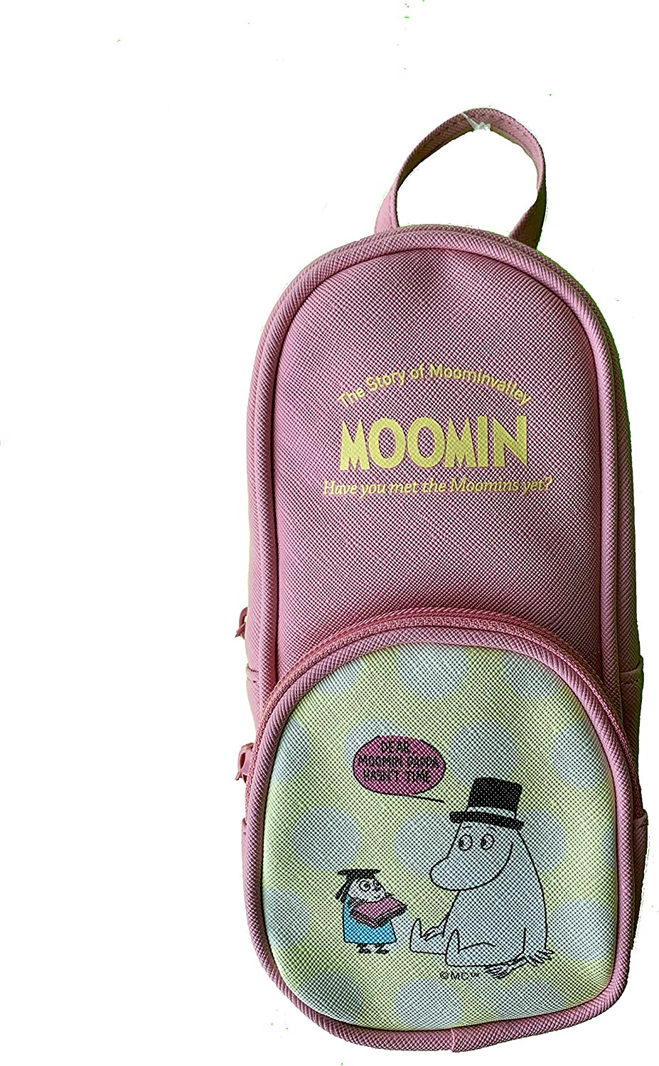 Moomins Backpack Bookbag | Small Book Bag Style Case Pouch Satchel Purse | Have You Met The Moomins (Pink)