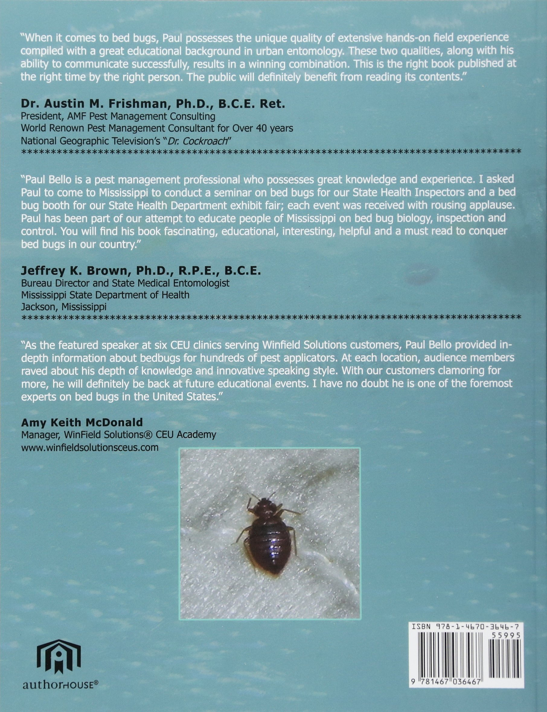The Bed Bug Combat Manual: Paul J. Bello: 9781467036467: Amazon.com ...