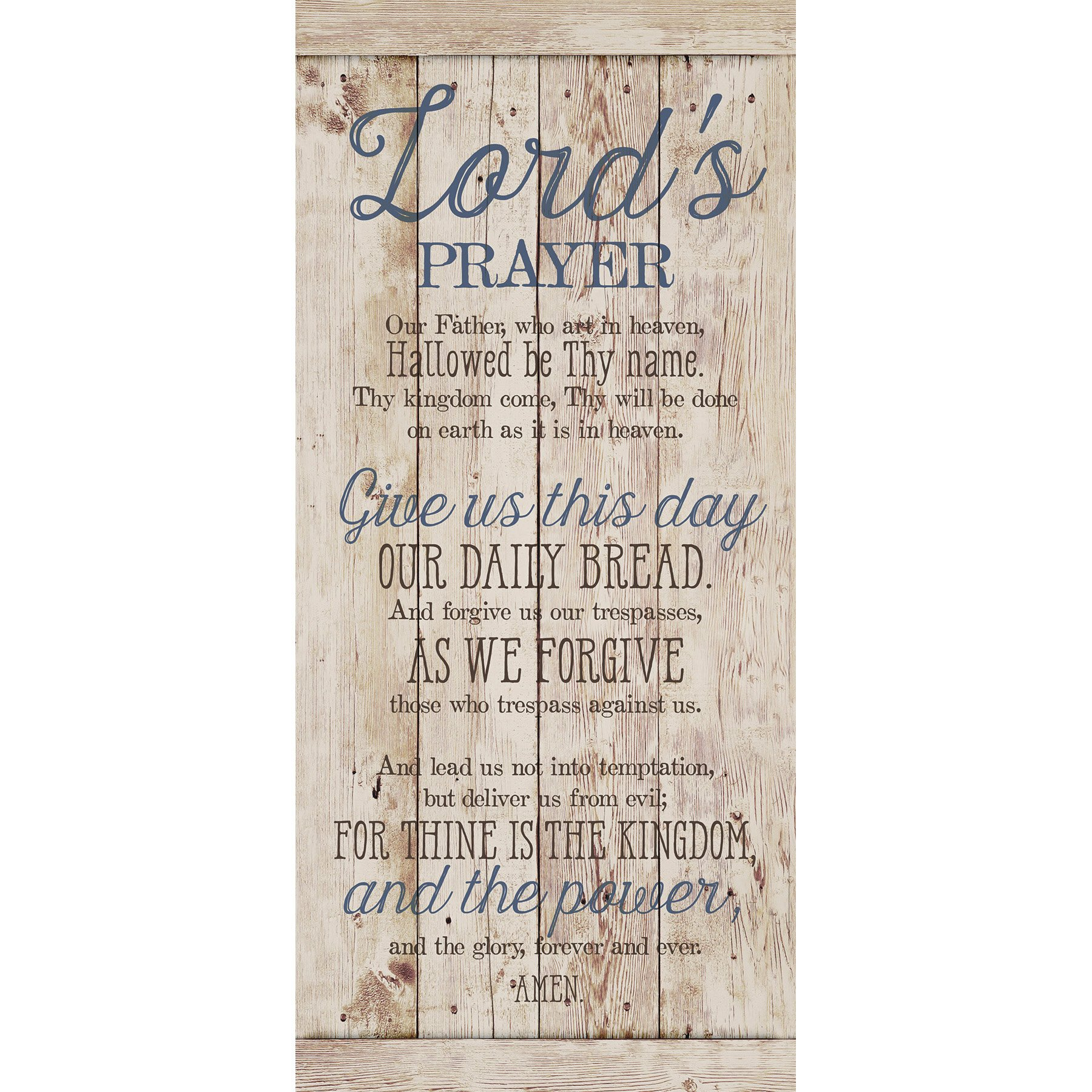 Lord'S Prayer…New Horizons Wood Plaque