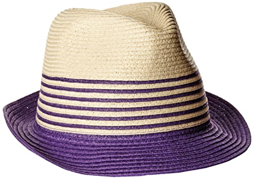 Physician Endorsed Women s Sammy D Two-Toned Packable Fedora Sun Hat ... 9e92e464f9e3