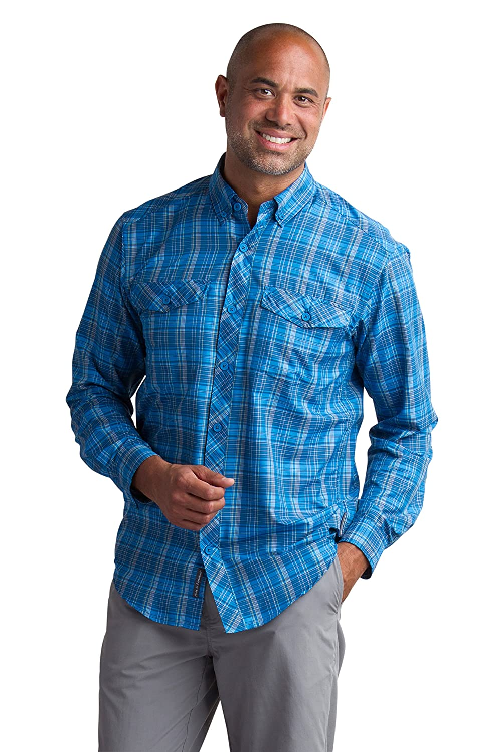 ExOfficio M Minimo Plaid Long Sleeve Shirt