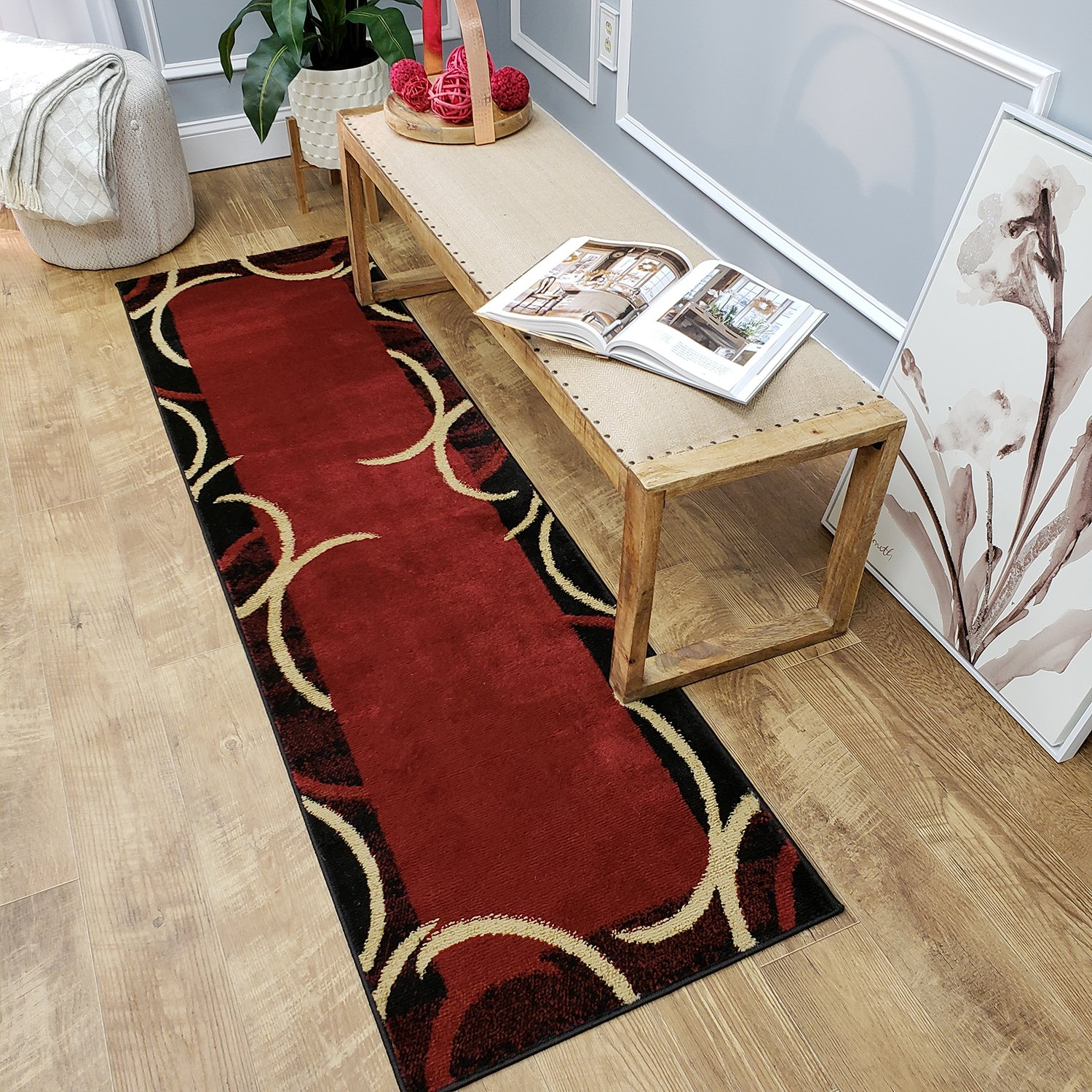 Maxy Home Pasha Contemporary Arches Multicolor 1 ft. 11 in. x 6 ft. 11 in. Rug Runner