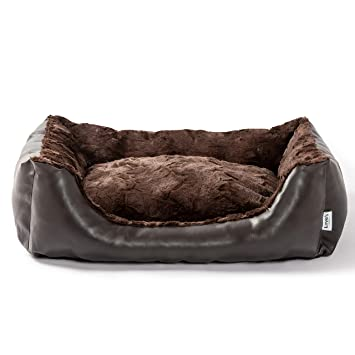 Excellent Loves Cabin 29In Large Dog Bed Faux Leather Pet Bed For Small Medium Dogs Cats Anti Slip Water Resistant Bottom Super Soft Durable Fabric Pet Squirreltailoven Fun Painted Chair Ideas Images Squirreltailovenorg