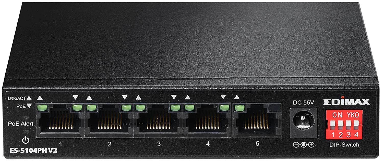 Edimax ES-5104PH V2 4 Ports Fast Ethernet PoE+ Switch